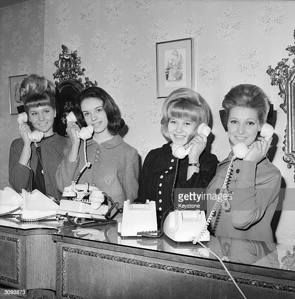 Four debutantes telephone their friends with the news that hairdresser Raymond is inviting them for a free manicure and facial at his London salons...