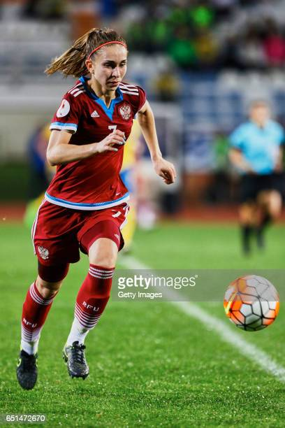 Natalia Sokolova of Russia Women during the match between Sweden v Russia Women's Algarve Cup on March 8th 2017 in Albufeira Portugal