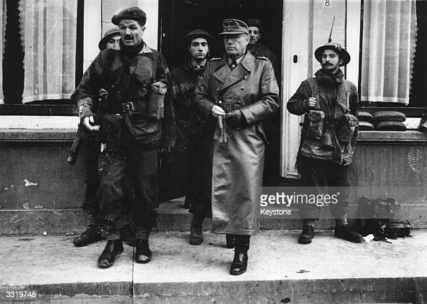 Lieutenant General Daser, commander of the German 70th division, leaving the German headquarters after the capture of Middleburg by the allies.