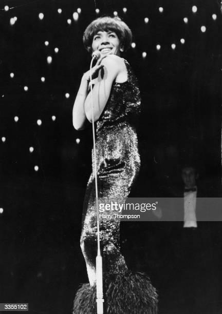 Welsh singer Shirley Bassey at the London Palladium