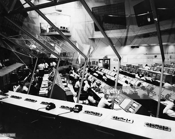 A view of the launch control centre for the launching of Apollo 4