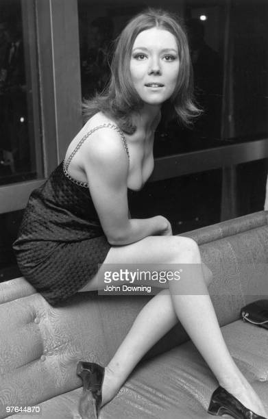 British actress Diana Rigg known for her role as Emma Peel in the television series 'The Avengers'