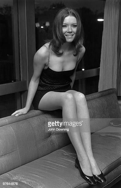 The actress, Diana Rigg, star of the TV series 'The Avengers'.