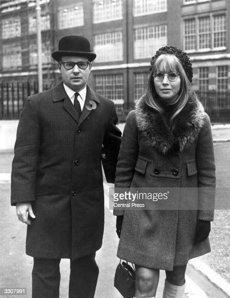Cynthia Lennon wife of John Lennon of The Beatles outside the Royal Courts of Justice in London where she is starting divorce proceedings against her...