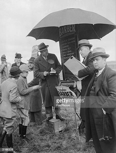 Jockey Mrs Bertha Virrall backs her mount 'Primitive' before the historic Newmarket Town Plate race over the Round Course on Newmarket Heath