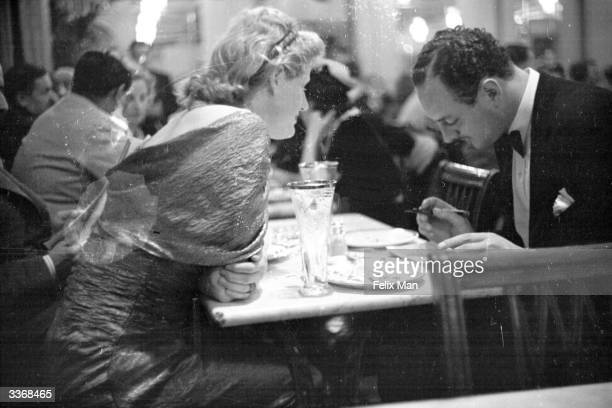 Diners in the Cafe Royal on Regent Street in London Original Publication Picture Post 1 London By Night pub 1938