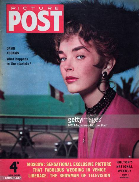English actress Dawn Addams  is featured for the cover of Picture Post magazine Original Publication Picture Post Cover Vol 69 No 02 pub 1955