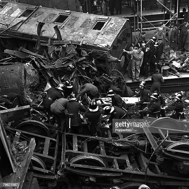 8th October Harrow and Wealdstone rail crashFiremen rescue people trapped in the tangled wreckage