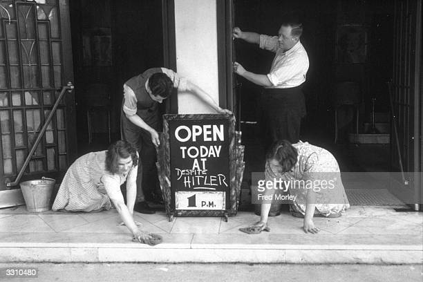 Cinema workers preparing to re-open a cinema, after the Home Office agreed to demands for the closure ban to be lifted.