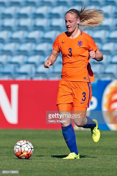 Stefanie Van Der Gragt of Netherlands Women during the match between Japan v Netherlands Women's Algarve Cup on March 8th 2017 in Loulé Portugal