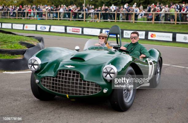 Vintage Aston Martin DB racing car during the Track Parade at the 20th anniversary of the Goodwood Revival at Goodwood on September 8th 2018 in...