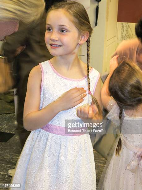 8yearold violin prodigy Alma Deutscher poses after performing a piece of her own composition alongside the New Russian Quartet as part of the...