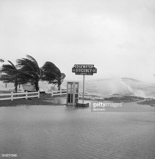 9/10/1960Miami FL Thirtyfourth Street becomes part of Biscayne Bay as winds from Hurricane Donna push the waters into downtown Miami The 36th Street...