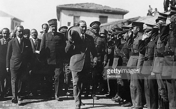 9/11/1926Constantinople Turkey His Excellency Mustafa Kemal Pasha head of the Turkish government as he appeared while inspecting the troops of an...