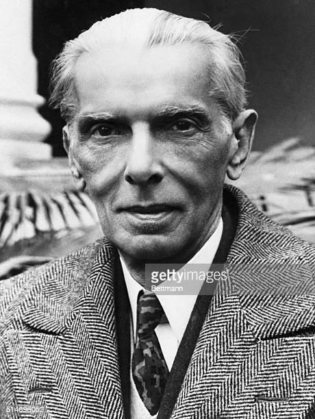 Karachi, Pakistan: Mohammed Ali Jinnah, Founder and Governor General of the Moslem state of Pakistan who died of a heart attack after a long period...