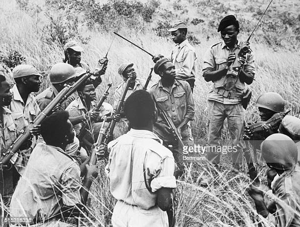 9/14/1964AngolaAn officer of the Angolan National Liberation Army sends radio instructions to a rebel unit on patrol 'somewhere in Angola' The photo...