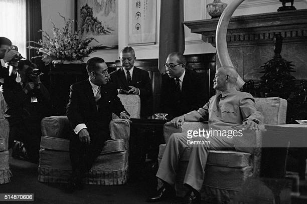 9/15/1967Taipei Taiwan Japan's Prime Minister Eisaku Sato confers with Nationalist Chinese President Chiang KaiShek in the Chief Executive's office...