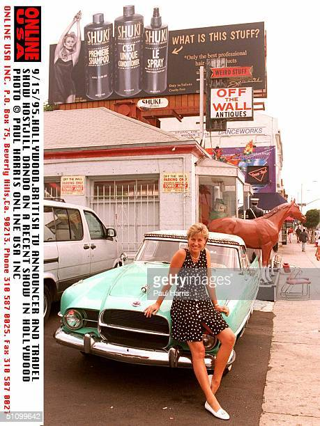 HollywoodJill Dando British Tv Presenter And Host For Holiday Show On Bbc At Off The Wall Antiques On Melrose Avenue