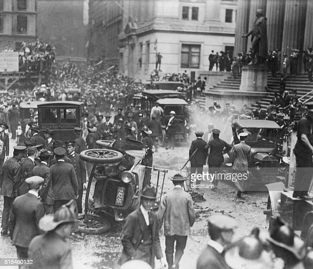 New York, NY-ORIGINAL CAPTION READS: Wall Street bomb explosion, September 16th thirty dead.