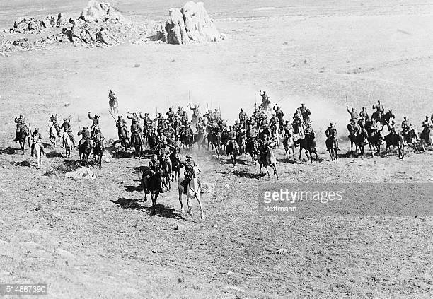 9/16/1922Smyrna Turkey A detachment of Greek cavalry making a charge in the face of the Turkish advance in Asia Minor in an effort to stem the tide...