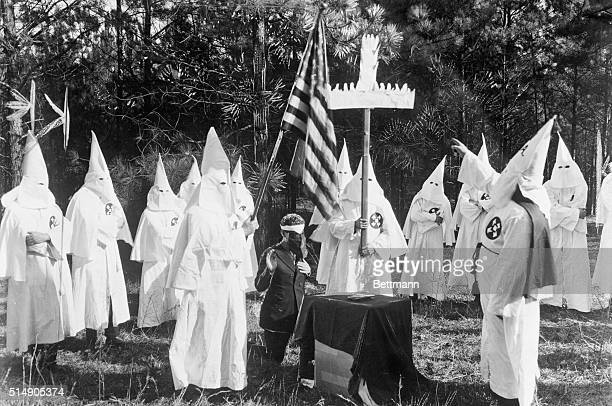 9/17/1921Near Atlanta GA View of a Ku Klux Klan ceremony on Stone Mountain