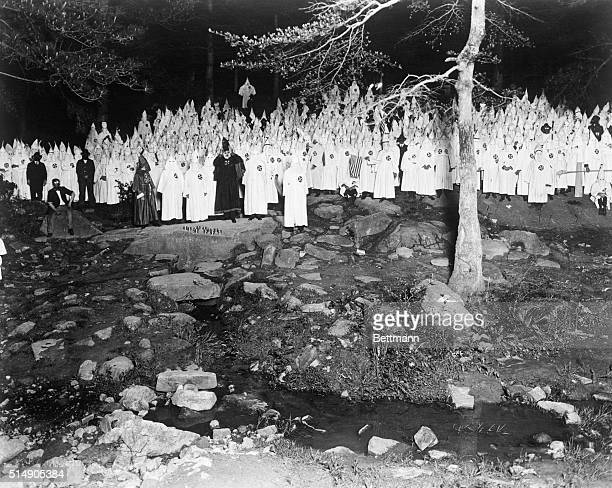 Stone Mountain GA A group of Klansmen are in the woods in Stone Mountain Georgia
