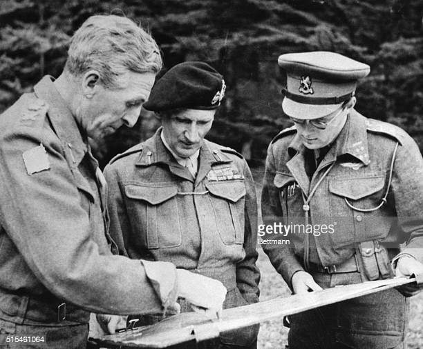 9/17/1944Brussels Belgium Lt General BG Horrocks British Corps Commander Field Marshal Sir Bernard L Montgomery Field commander of the British troops...