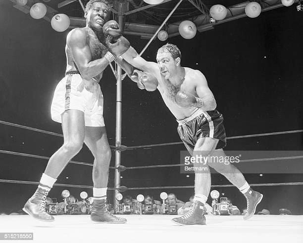 9/17/1954New York NYThis was the big punch that weakened challenger Ez Charles for his 8th round slaughter Moments after Champ Rocky Marciano landed...