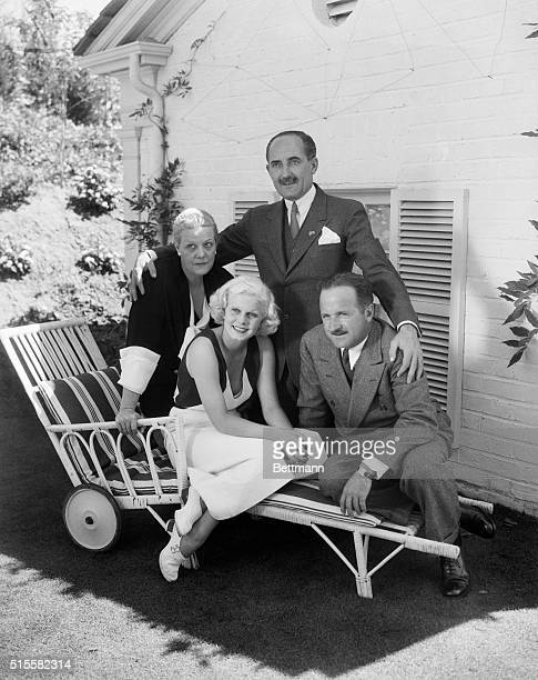 9/19/1933Los Angeles CA A few hours after the ceremony that united her to Harold G Rosson Hollywood Ace film photographer Jean Harlow original...