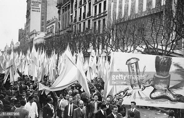 9/19/1945Buenos Aires ArgentinaThe people of Argentina 500000 strong march through the streets of Buenos Aires repudiating their government and Juan...