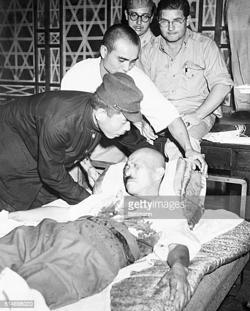 9/19/1945Tokyo Japan Tojo Suicide AttemptJaps prop former premier Tojo up shortly after he shot himlself
