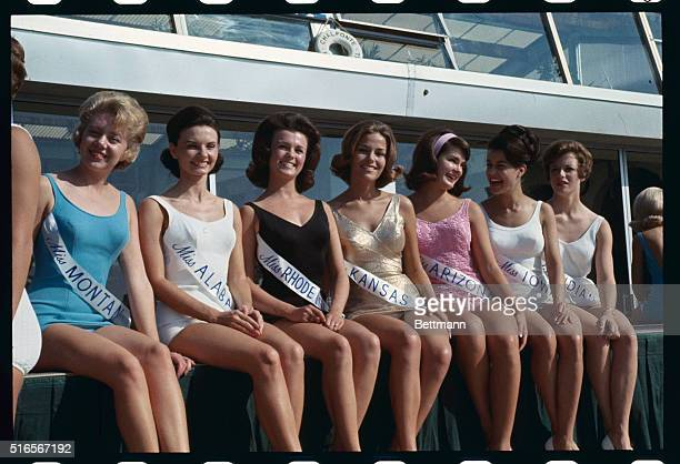 Lovely contestants in the 'Miss America' beauty pageant They are Miss Montana Dianne Sue Feller Miss Alabama Linda Folsom Miss Rhode Island Maureen...
