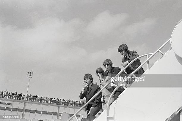9/21/1964New York NY Beatles fans are out in force to see their idols leave for home from Kennedy Airport on Sept21st Great Britain's latest...