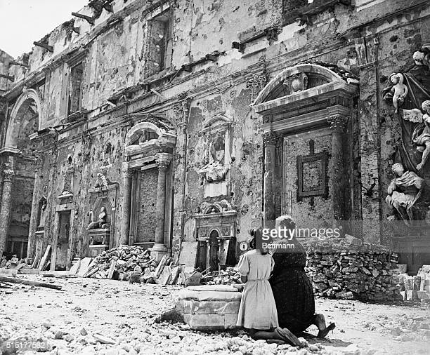 Leghorn, Italy: The beautiful cathedral at Leghorn was one of the casualties of the war. Some of the debris has been cleared up and all that was...