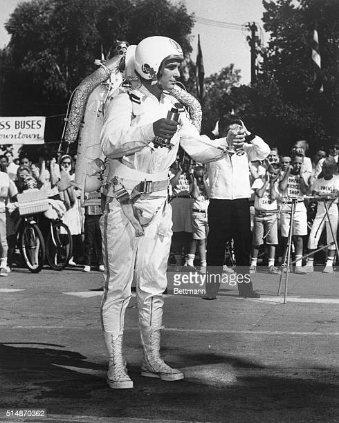 9/2/1964Sacramento CA Rocket man Peter Kedzierski at the California State Fair here 9/2 Kedzierski of Buffalo NY is one of the featured attractions...