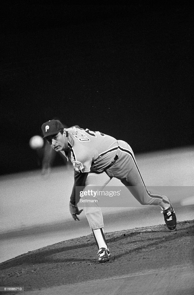 Philadelphia Phillies' pitcher Steve Carlton is attempting to become the 16th pitcher in Major League history to reach the 300 victory plateau as he and the Phillies face the St. Louis Cardinals, 9/23. The last pitcher to reach the 300-victroy plateau was Gaylord Perry last year.