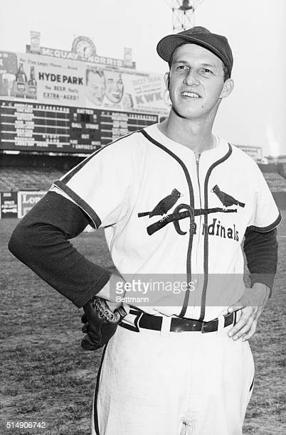 9/24/1943St Louis MO Here is a new photo of Stan Musial outfielder for the St Louis Cards Nat'l League pennant winners The Cards will meet the NY...