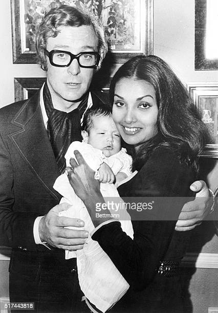 9/25/1972London England Here's actor Michael Caine in his real life role as Daddy With his wife Shakira Caine helps his daughter Natasha Halima meet...