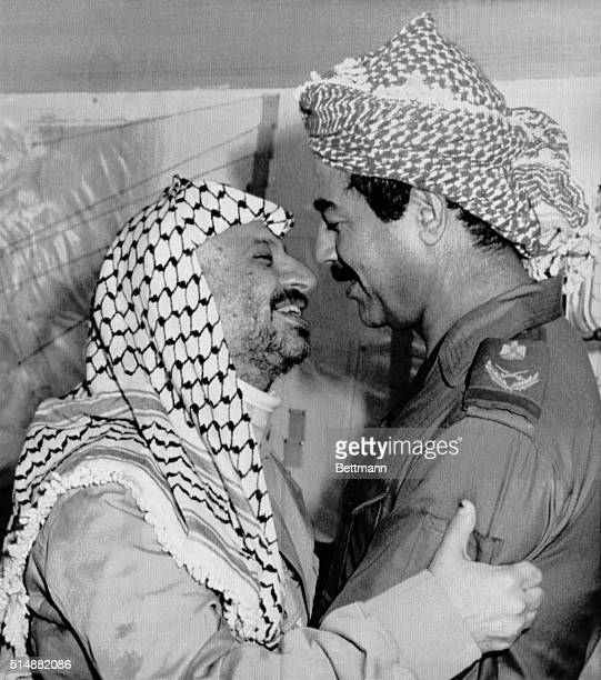 Iraqi President Saddam Hussein receives Palestine Liberation Organization Chairman Yasser Arafat 9/24 At the United Nations 9/25 Iraq brushed aside...