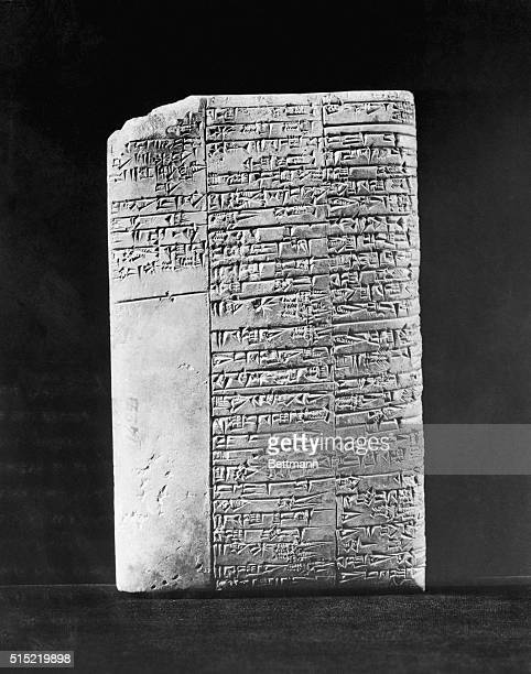 9/27/1953Philadelphia PAThe inscription on this 4000yearold Sumerian clay tablet in the Museum of the University of Pennsylvania has been translated...