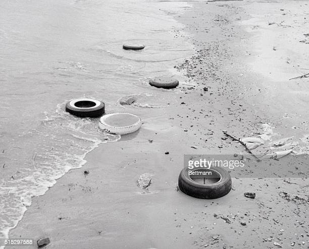9/27/1969Chicago IL Belmont Harbor on Lake Michigan presented this filthy scene after it had been used as a dumping ground for all kinds of debris
