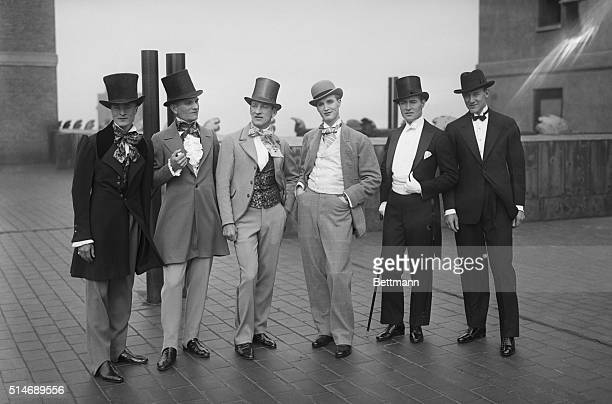 Photo shows what the well dressed man has worn on Forty Second Street since 1825 As the fashions were demonstrated in the 42nd St Centennary...