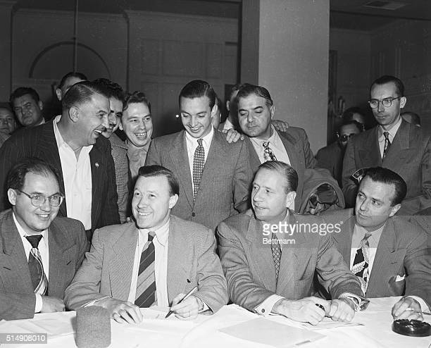 9/29/1949Detroit MIWinding up 119 days of negotiation with a 34hour continuous session the Ford Motor Company and the United Auto Workers CIO agree...