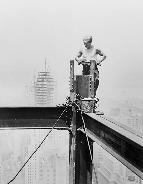 Steel Worker Arranging Steel Frame Pictures | Getty Images