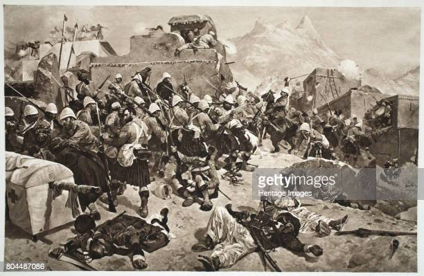 92nd Highlanders and 2nd Gurkhas storming Mulla Sahibdad Afghanistan 1901 British Empire troops commanded by Lord Roberts defeating an Afghan army to...