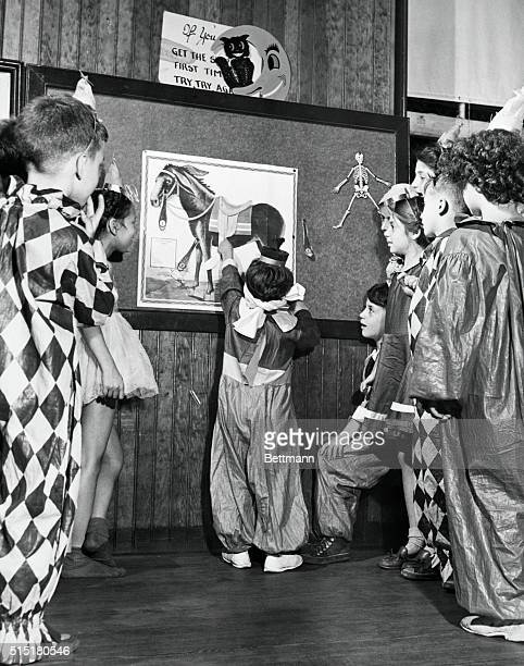 9/30/1947New York NY In order to prove that kids can enjoy Halloween even if they have to stay indoors the National Halloween Committee gave a party...