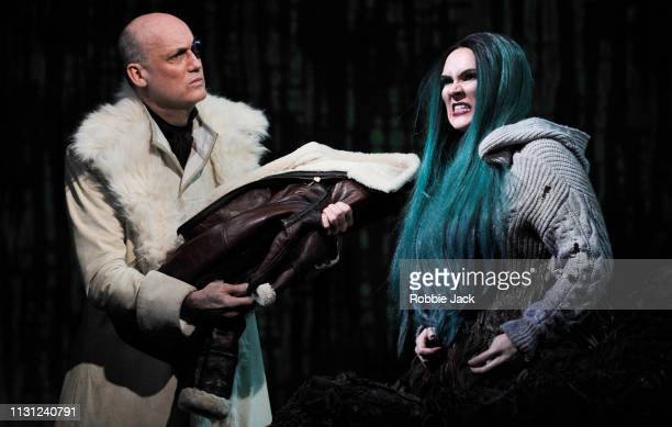 Graeme Broadbent as Odin and Marta FontanalsSimmons as Hel in The Royal Opera's production of Francesca Simon and Gavin Higgins's The Monstrous Child...
