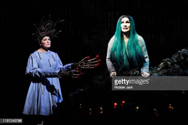 Lucy Schaufer as Modgud and Marta FontanalsSimmons as Hel inThe Royal Opera's production of Francesca Simon and Gavin Higgins's The Monstrous Child...