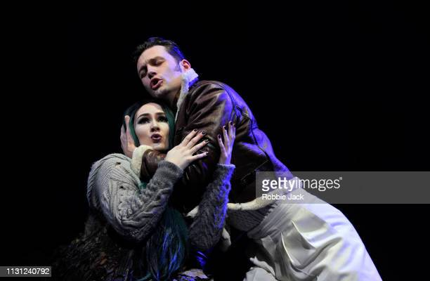 Marta FontanalsSimmons as Hel and Dan Shelvey as Baldr The Royal Opera's production of Francesca Simon and Gavin Higgins's The Monstrous Child...