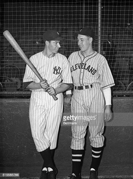 9/3/1936Joe DiMaggio the New York Yankees' sensational rookie outfielder who is among the American League's leading battersseems to be teling Bob...